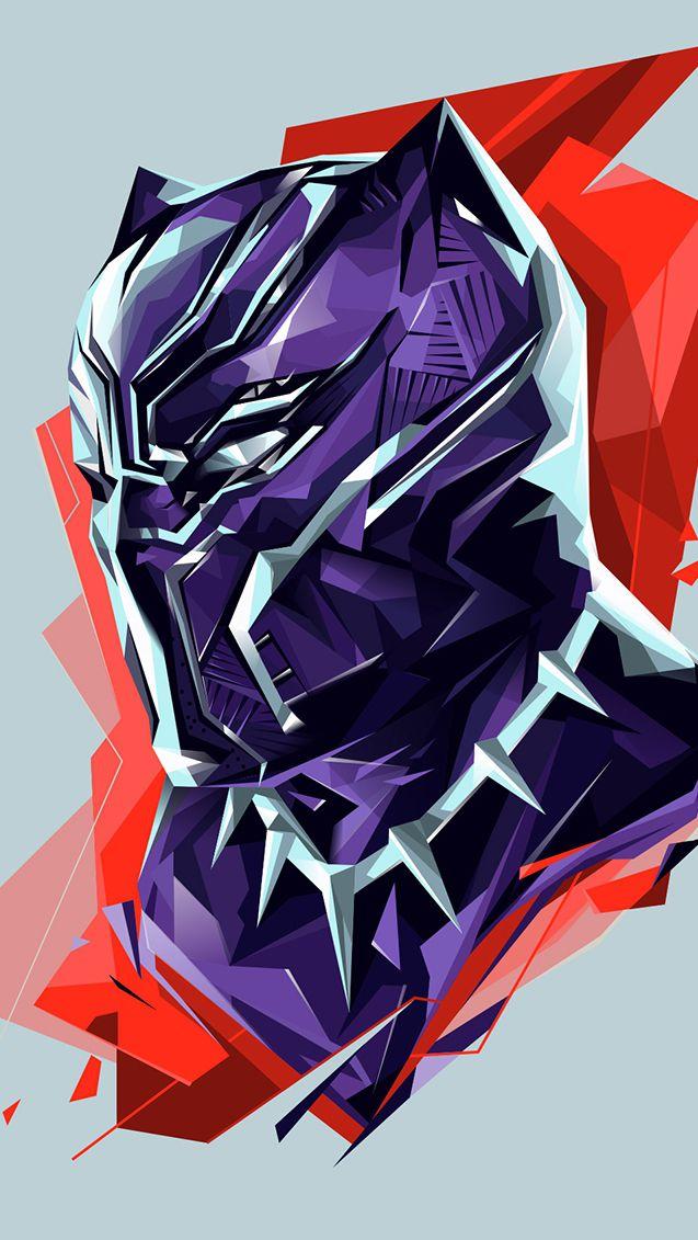Black Panther Artwork HD iPhone Wallpaper