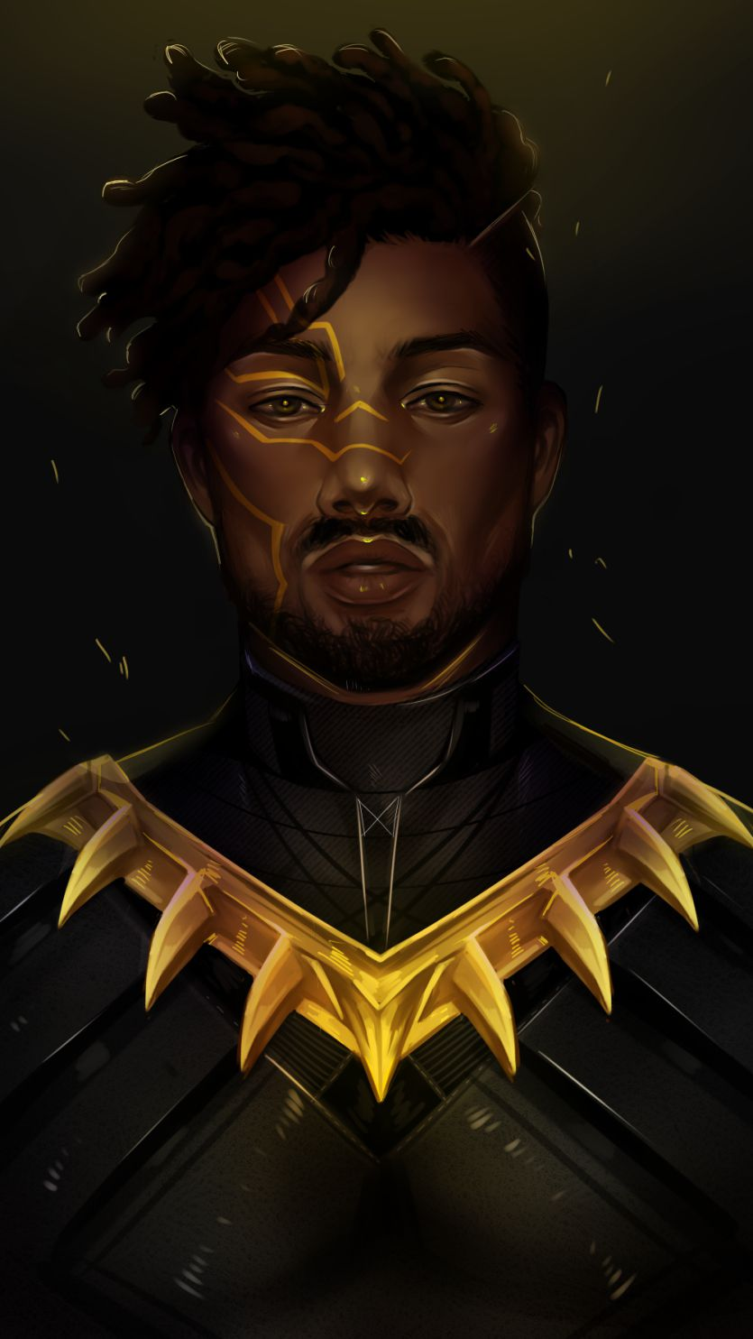 Black Panther Killmonger iPhone Wallpaper