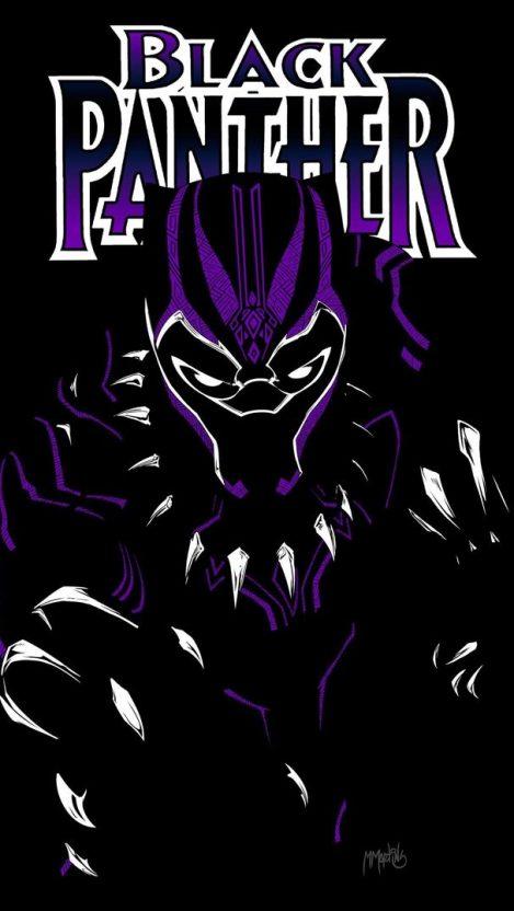 Black Panther Purple Suit iPhone Wallpaper