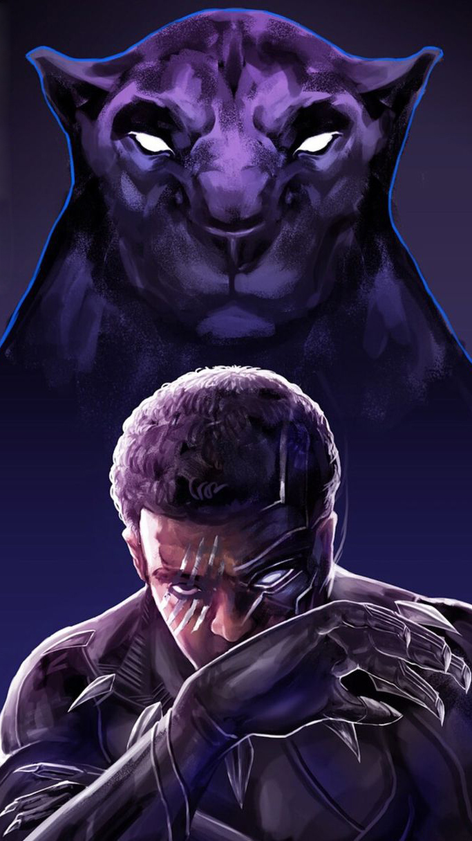Black Panther The King iPhone Wallpaper