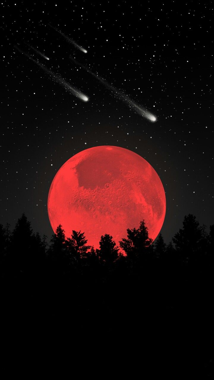 Blood Moon iPhone Wallpaper