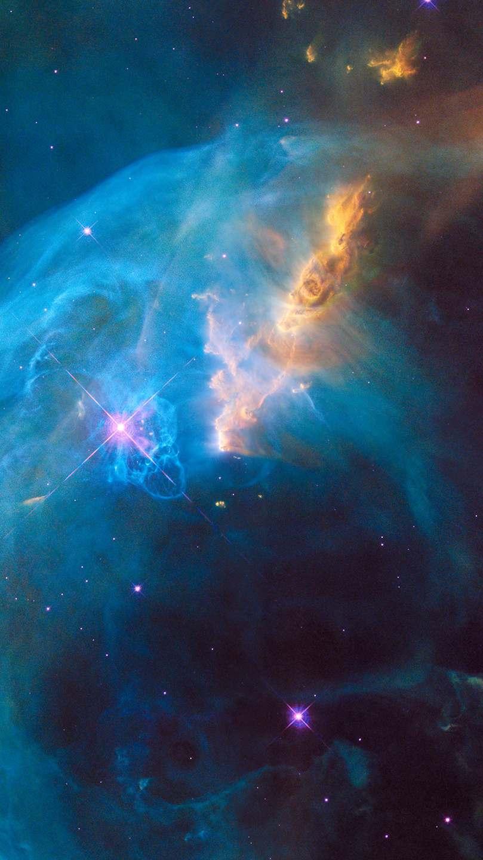 Blue Nebula Galaxy Space iPhone Wallpaper