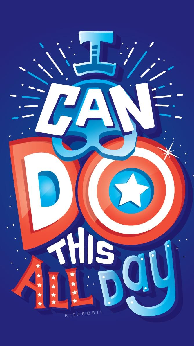 Captain America Quote iPhone Wallpaper