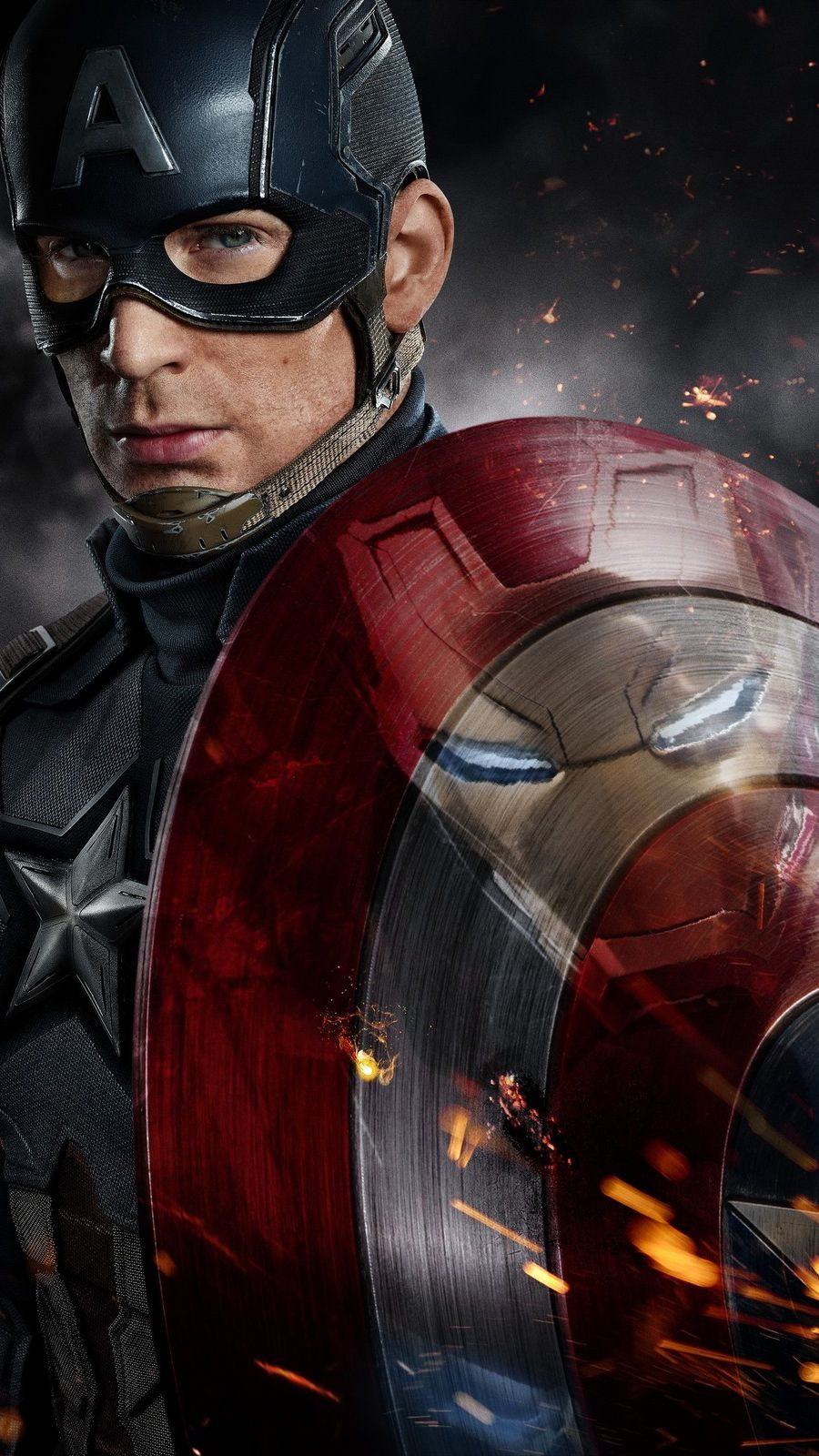 Captain America vs Iron Man Fight iPhone Wallpaper