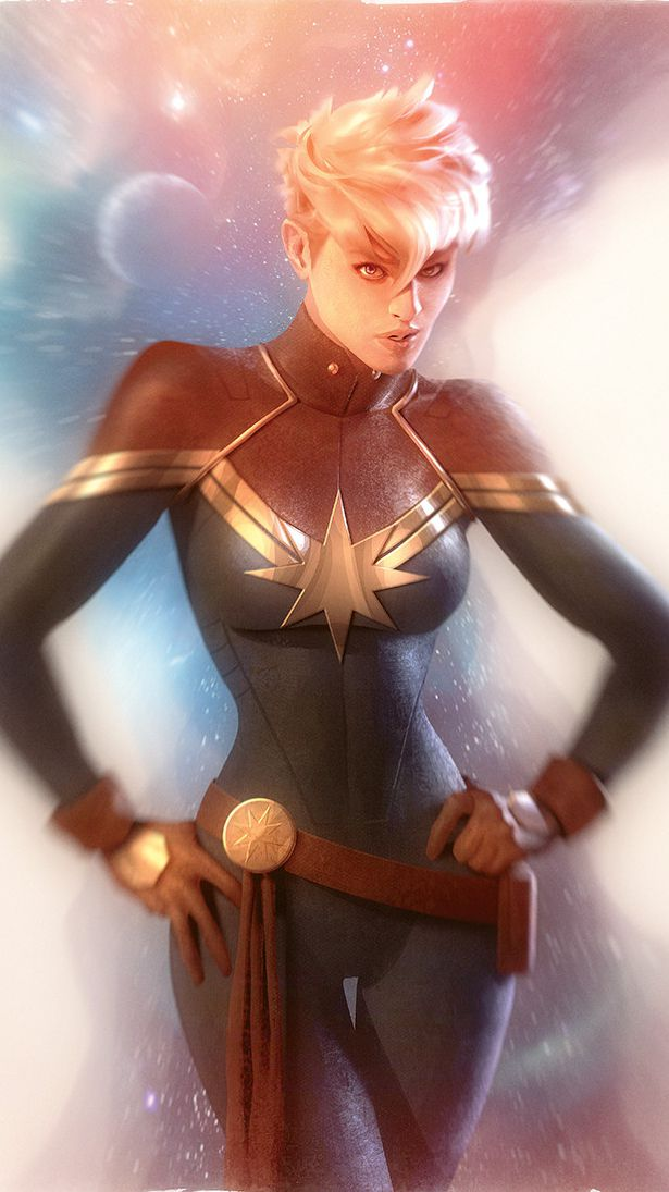 Captain Marvel Art HD iPhone Wallpaper