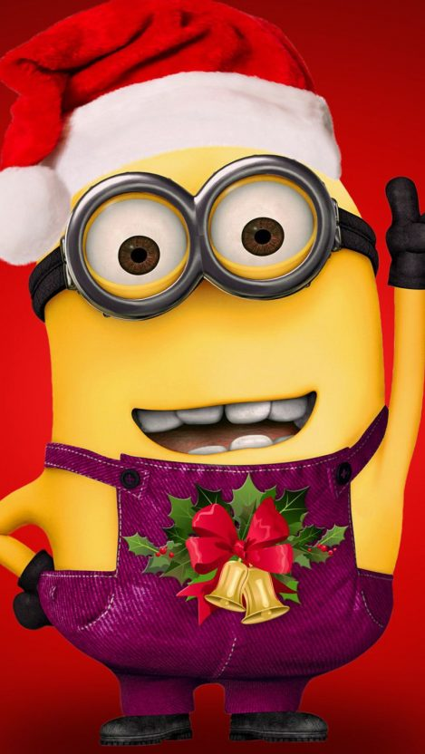 Christmas Minions iPhone Wallpaper