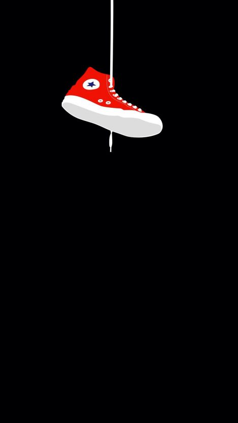 Converse Sneaker Hanging iPhone Wallpaper