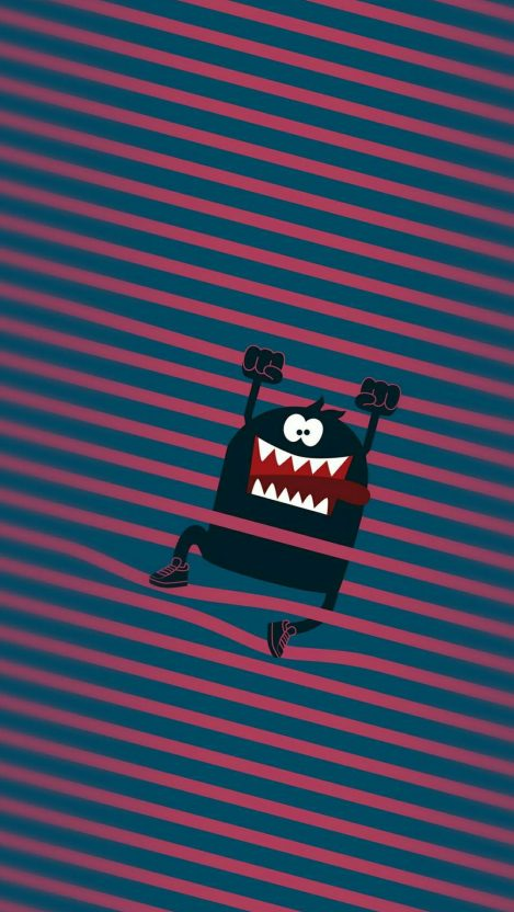 Cute Monster HD iPhone Wallpaper