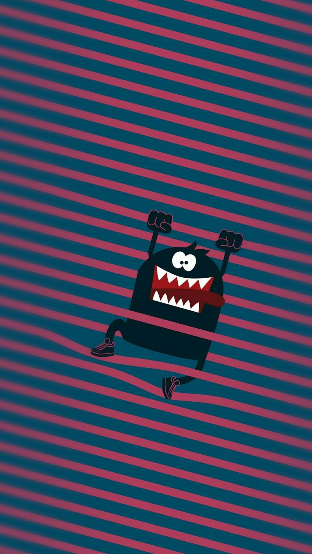 Cute Monster HD iPhone Wallpaper