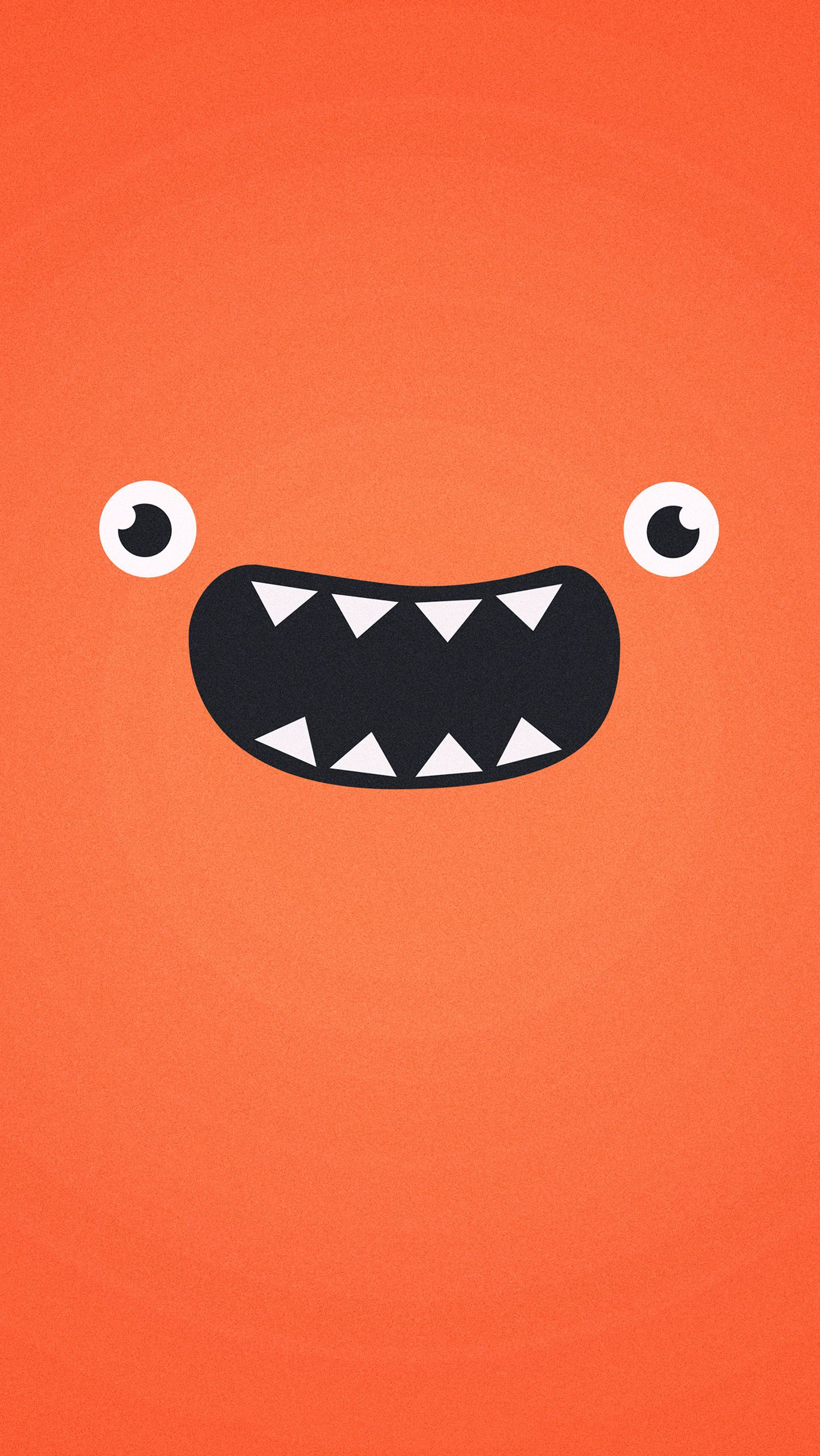 Cute Monster Smile iPhone Wallpaper