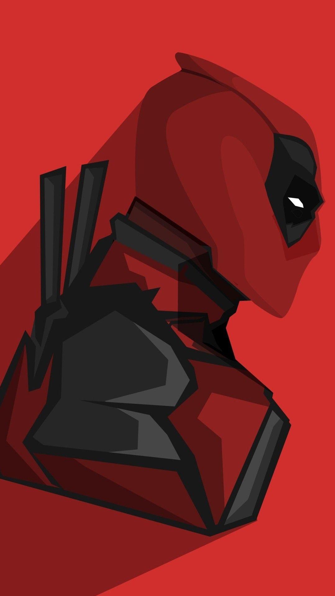 Deadpool Minimal iPhone Wallpaper