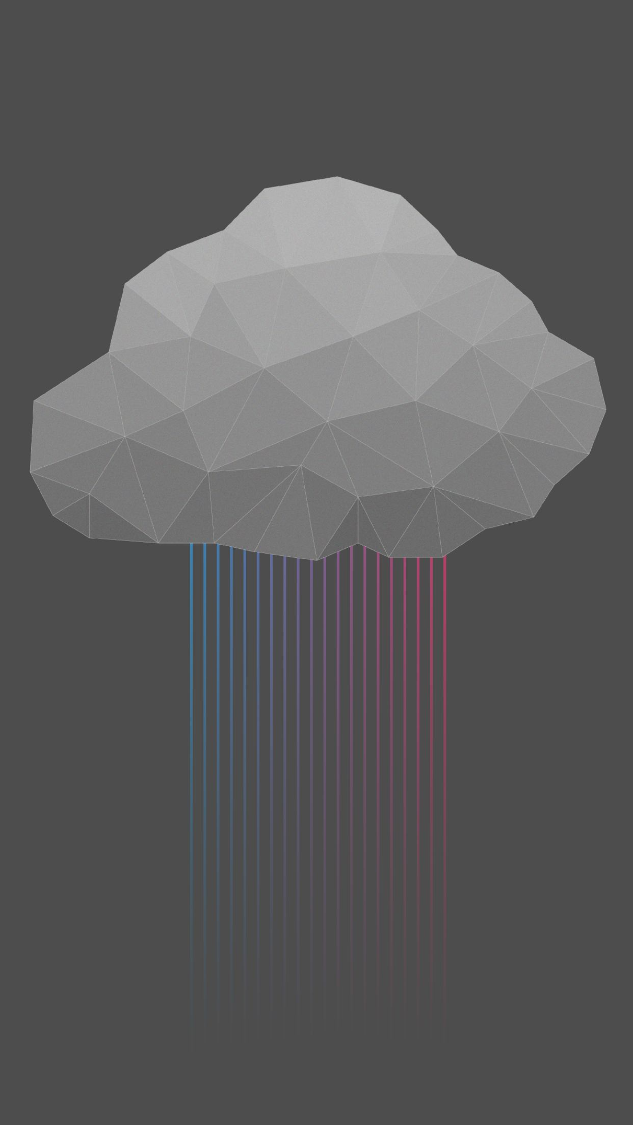 Digital Cloud Rain iPhone Wallpaper