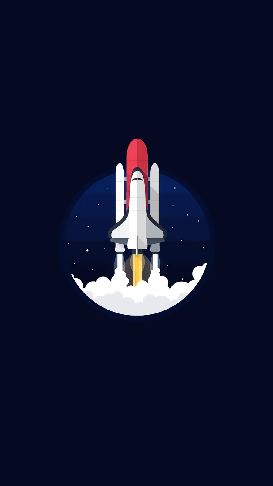 Discovery Space Shuttle Minimal iPhone Wallpaper