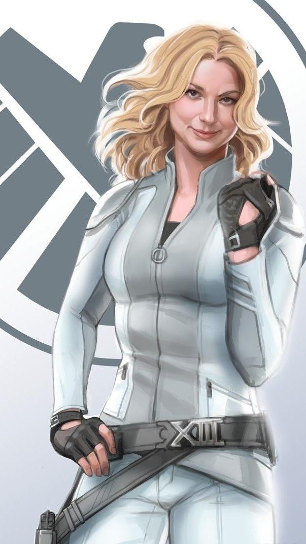 Emily VanCamp Marvel Shield iPhone Wallpaper