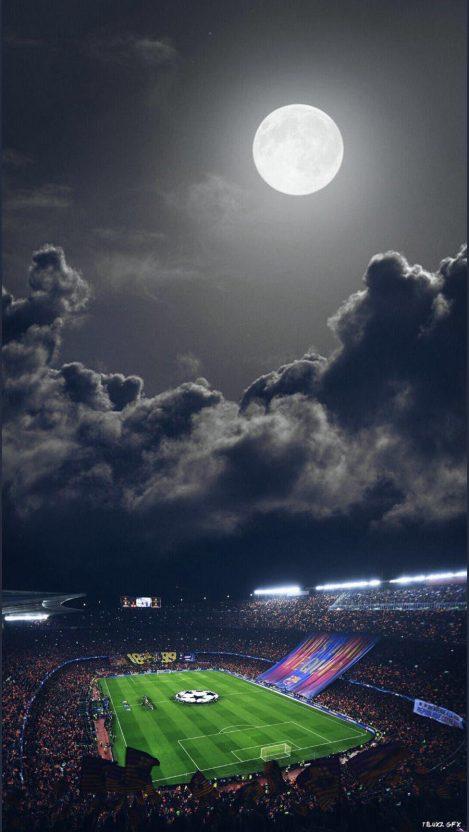 Football in Night iPhone Wallpaper