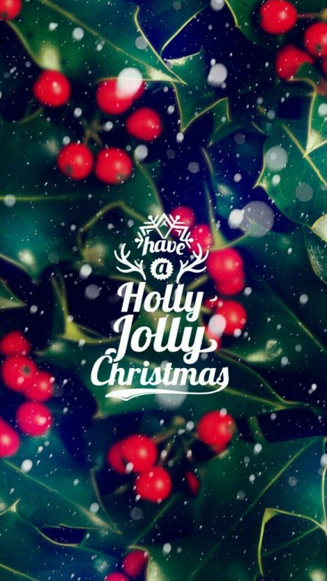 Holly Jolly Christmas iPhone Wallpaper