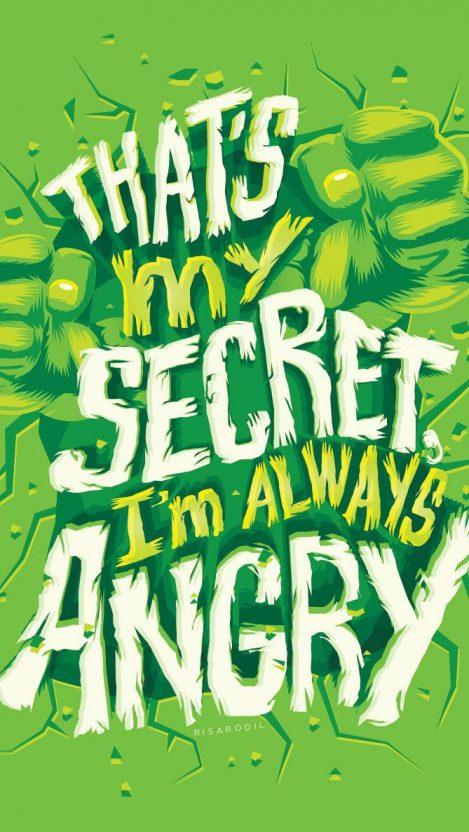 Hulk Quote iPhone Wallpaper
