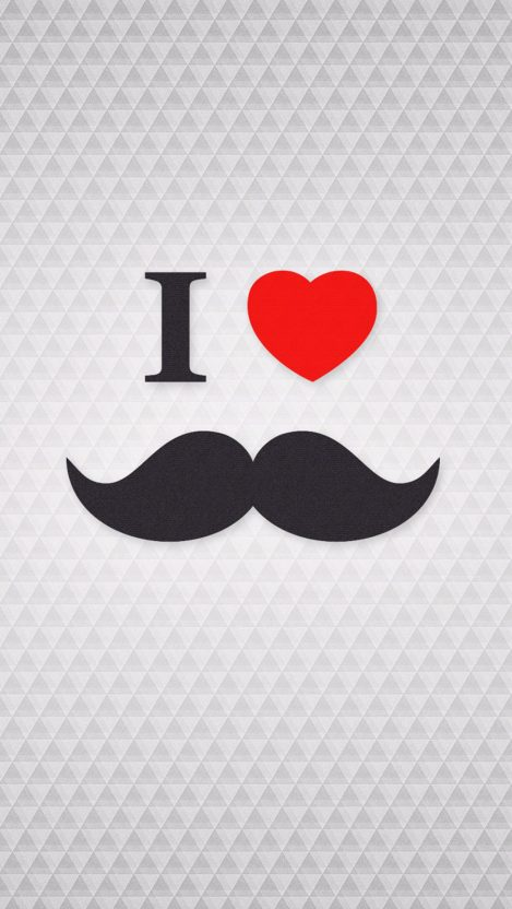 I Love Mustache iPhone Wallpaper