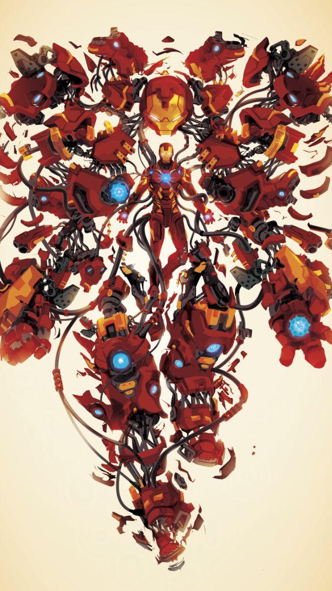 Iron Man Art Hulk Buster iPhone Wallpaper