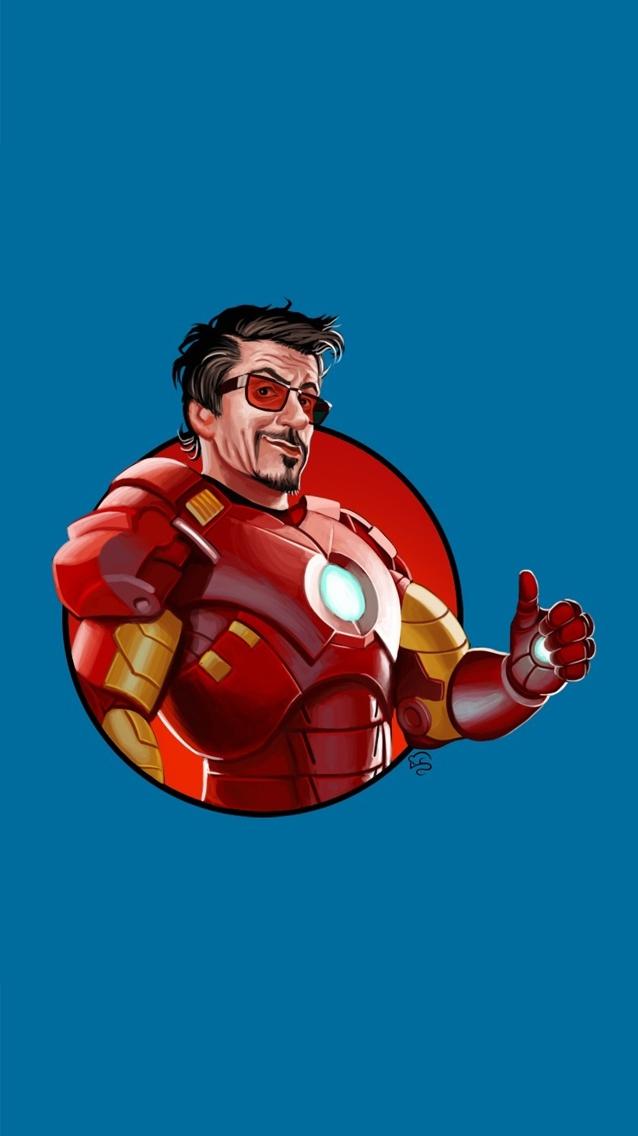 Iron Man Robert Downey Jr. iPhone Wallpaper