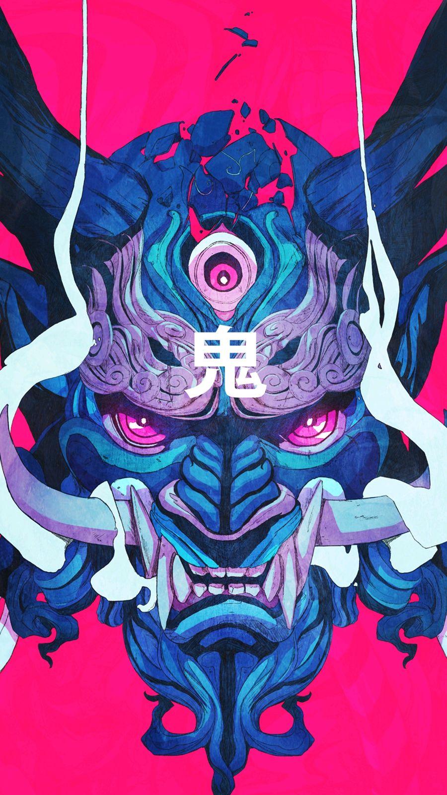 Japanese Monster iPhone Wallpaper