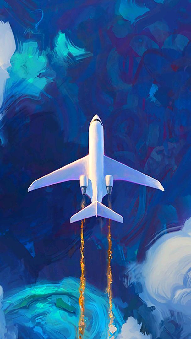 Jet Plane on Atlantic iPhone Wallpaper