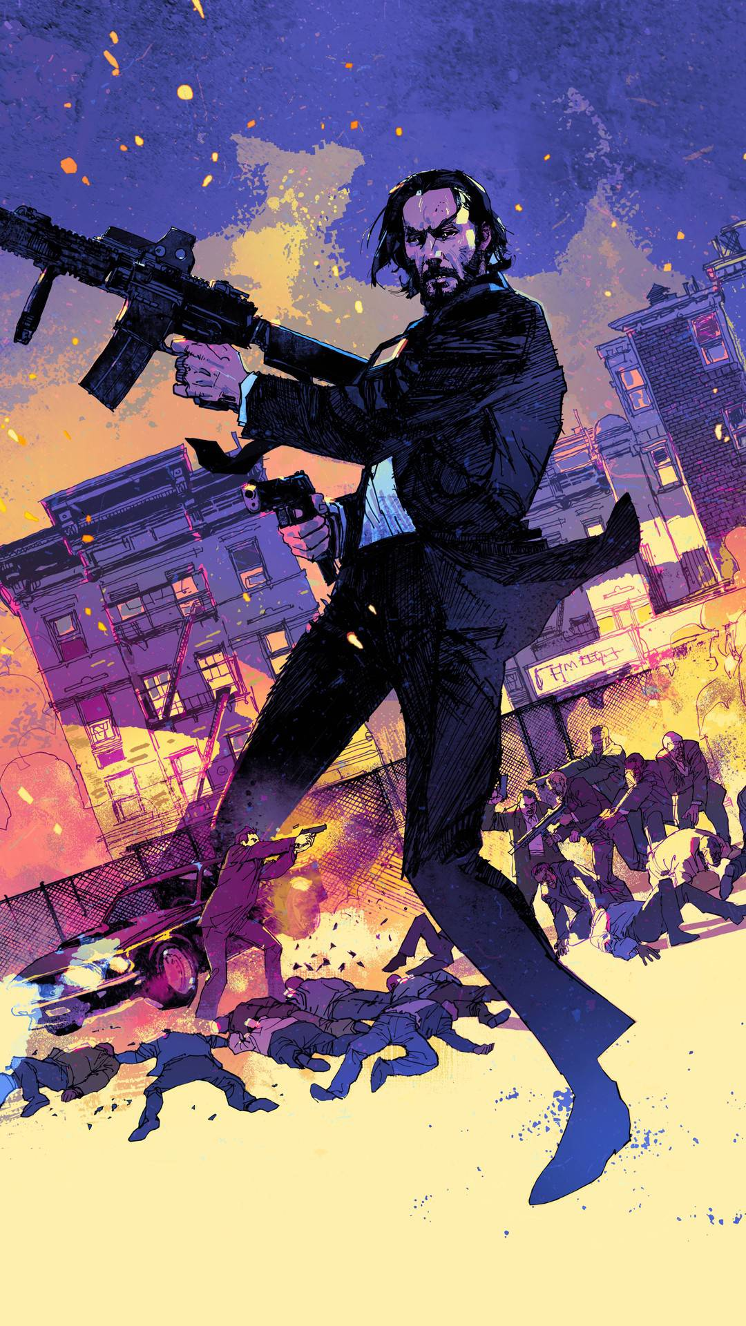 John wick Poster Art iPhone Wallpaper