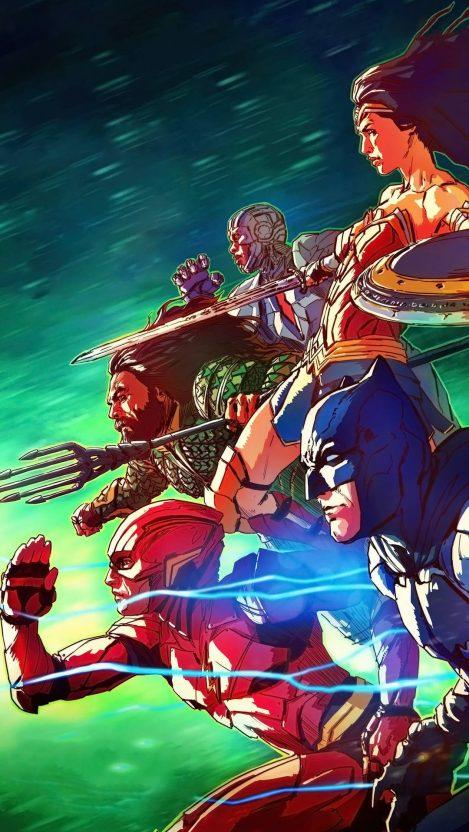 Justice League Art iPhone Wallpaper