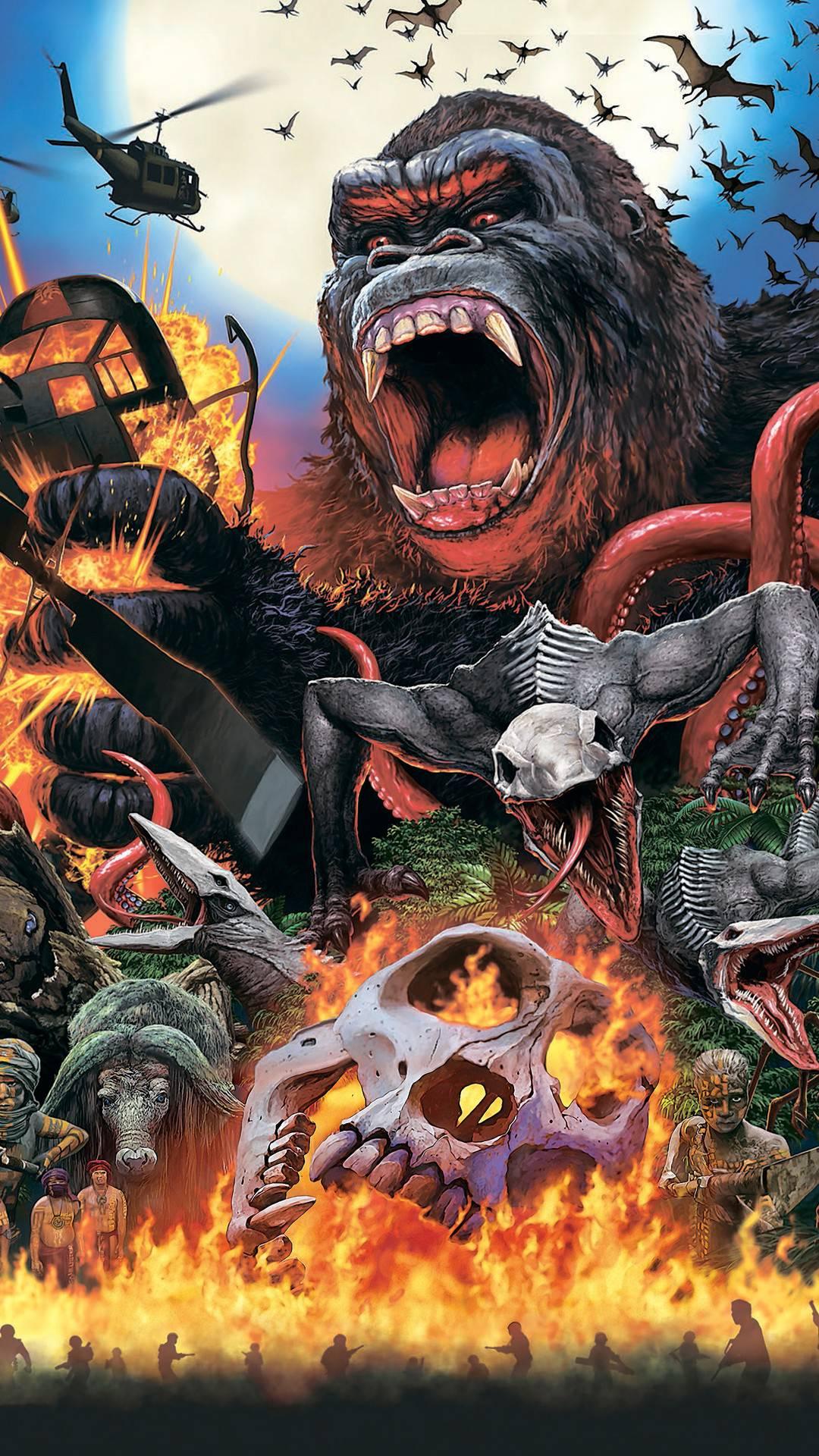 Kong skull island Art iPhone Wallpaper