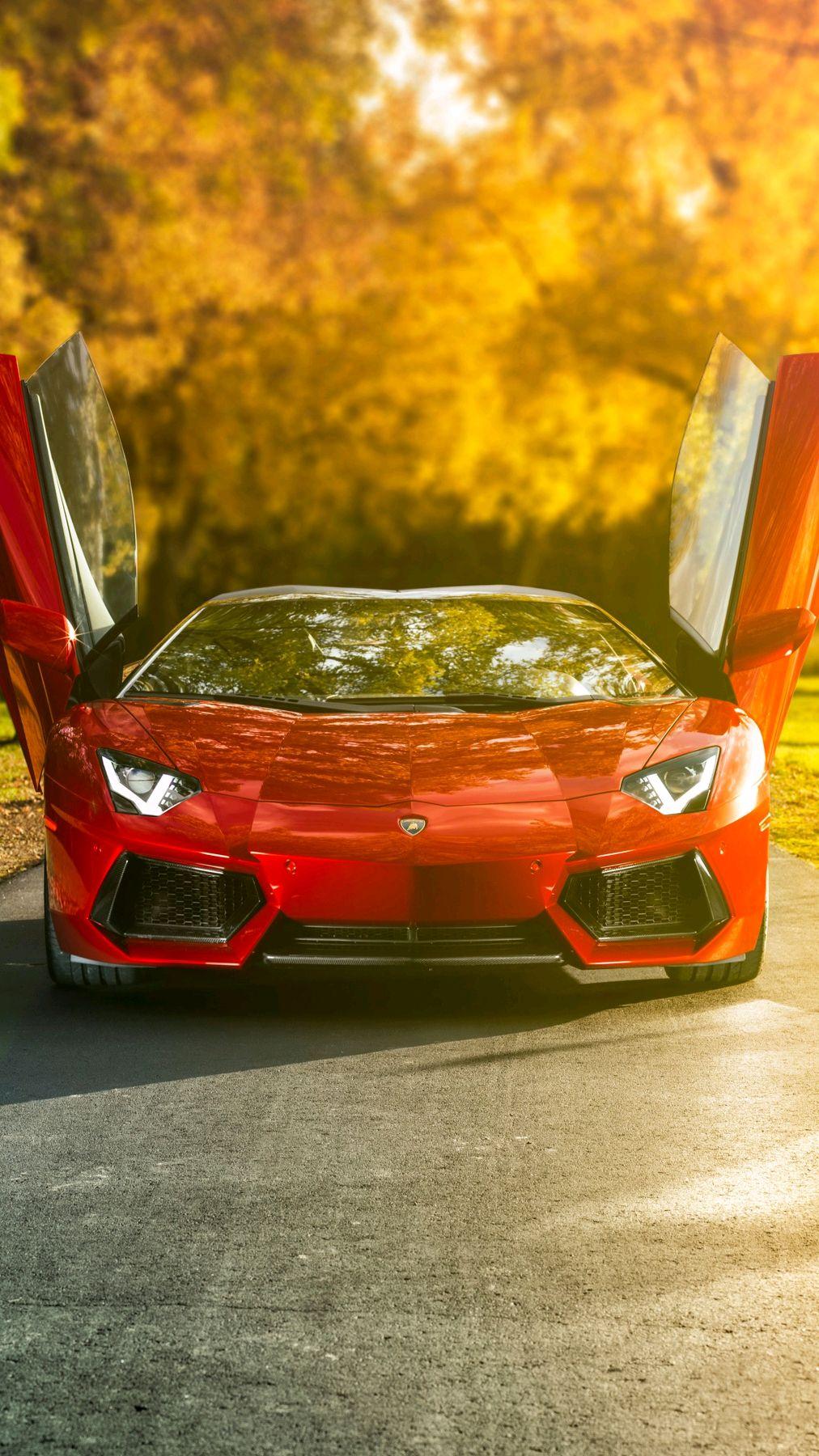 Lamborghini Aventador Open Doors iPhone Wallpaper
