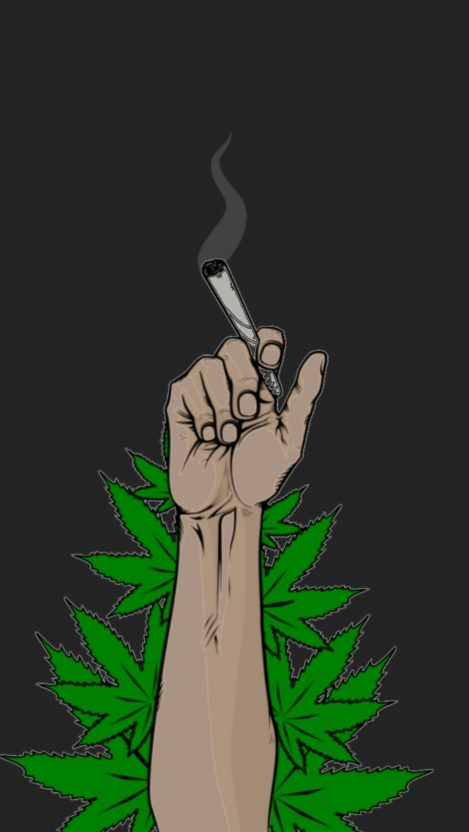Marihuana Weed is Life iPhone Wallpaper