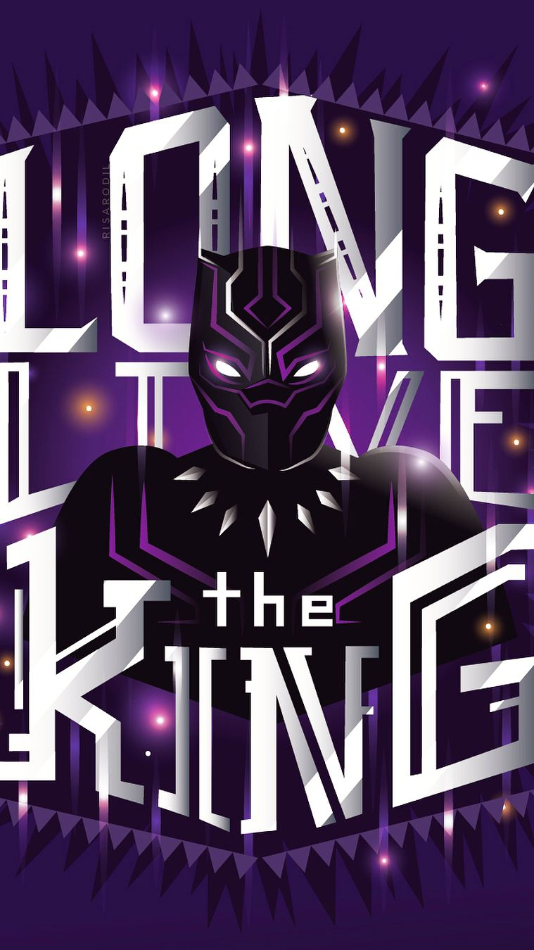 Marvel Black Panther The King iPhone Wallpaper