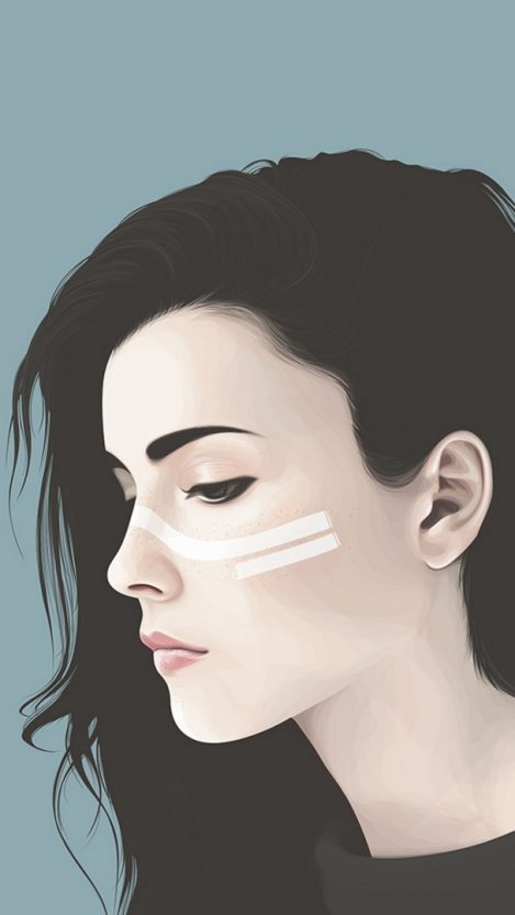Minimal Girl Face iPhone Wallpaper