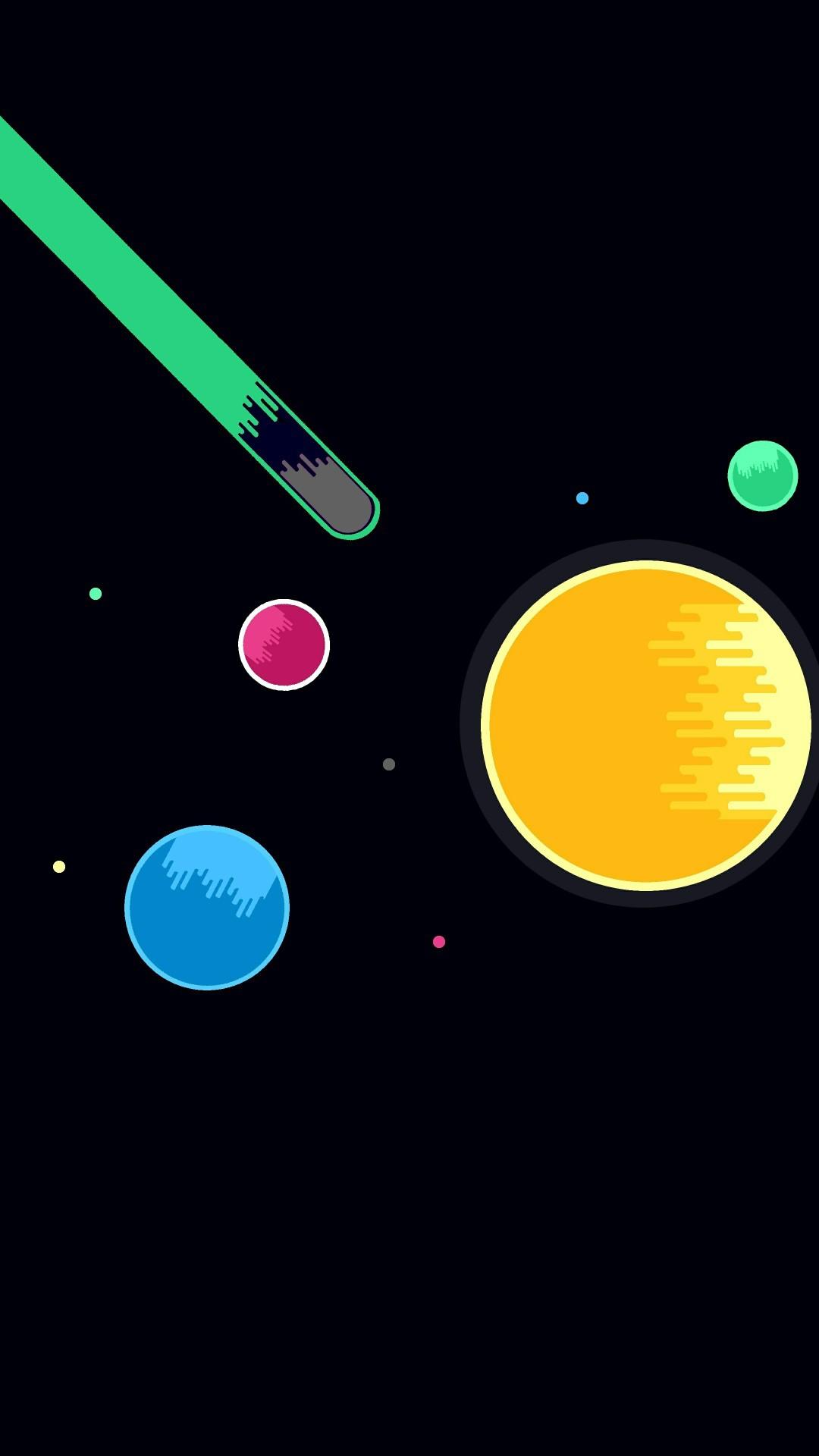 Minimal Planets Space Meteoroid iPhone Wallpaper