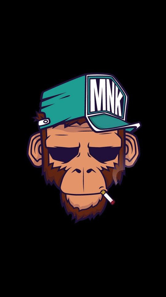 Monkey Cool iPhone Wallpaper