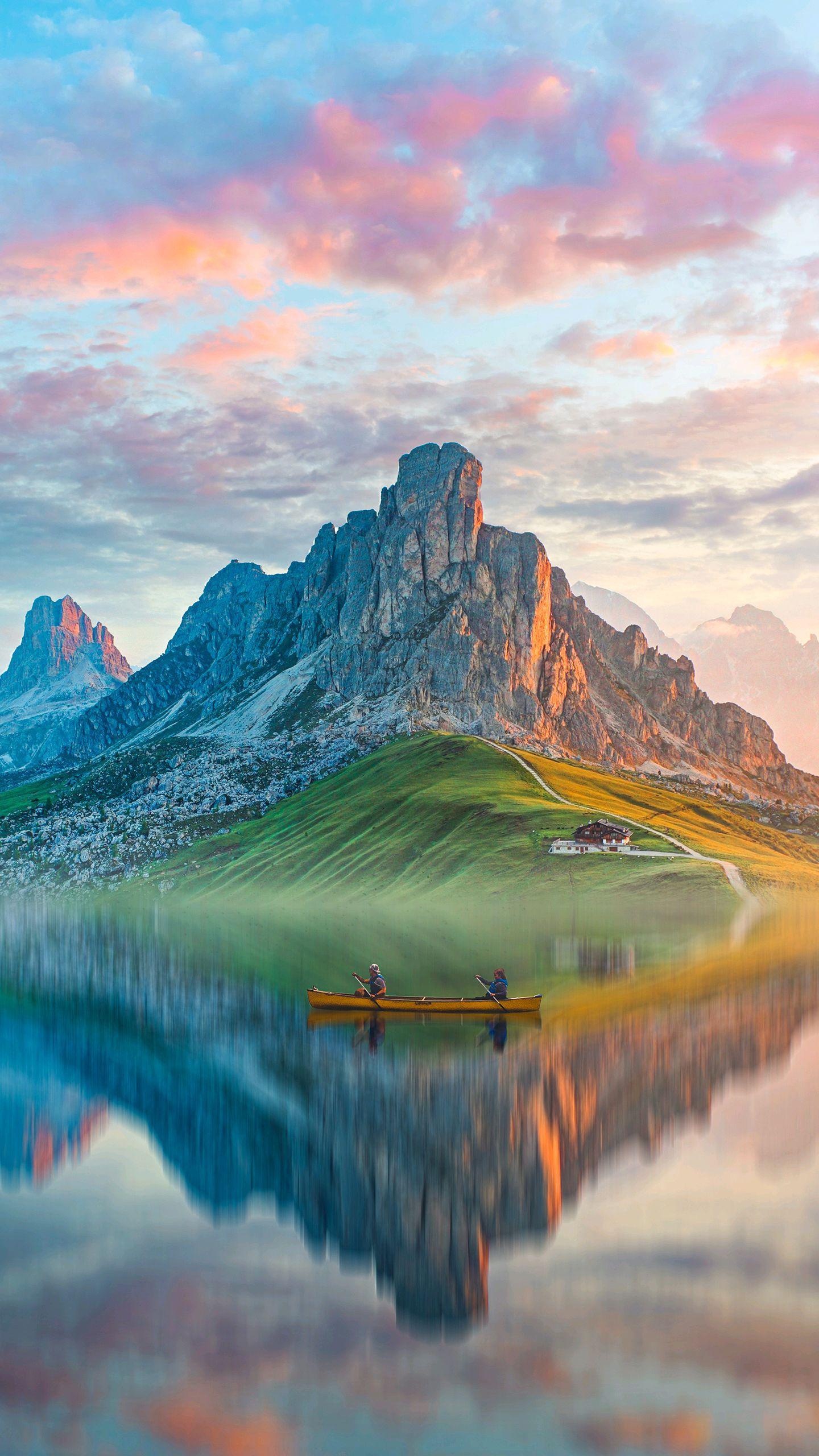 Mountain Reflection Lake iPhone Wallpaper
