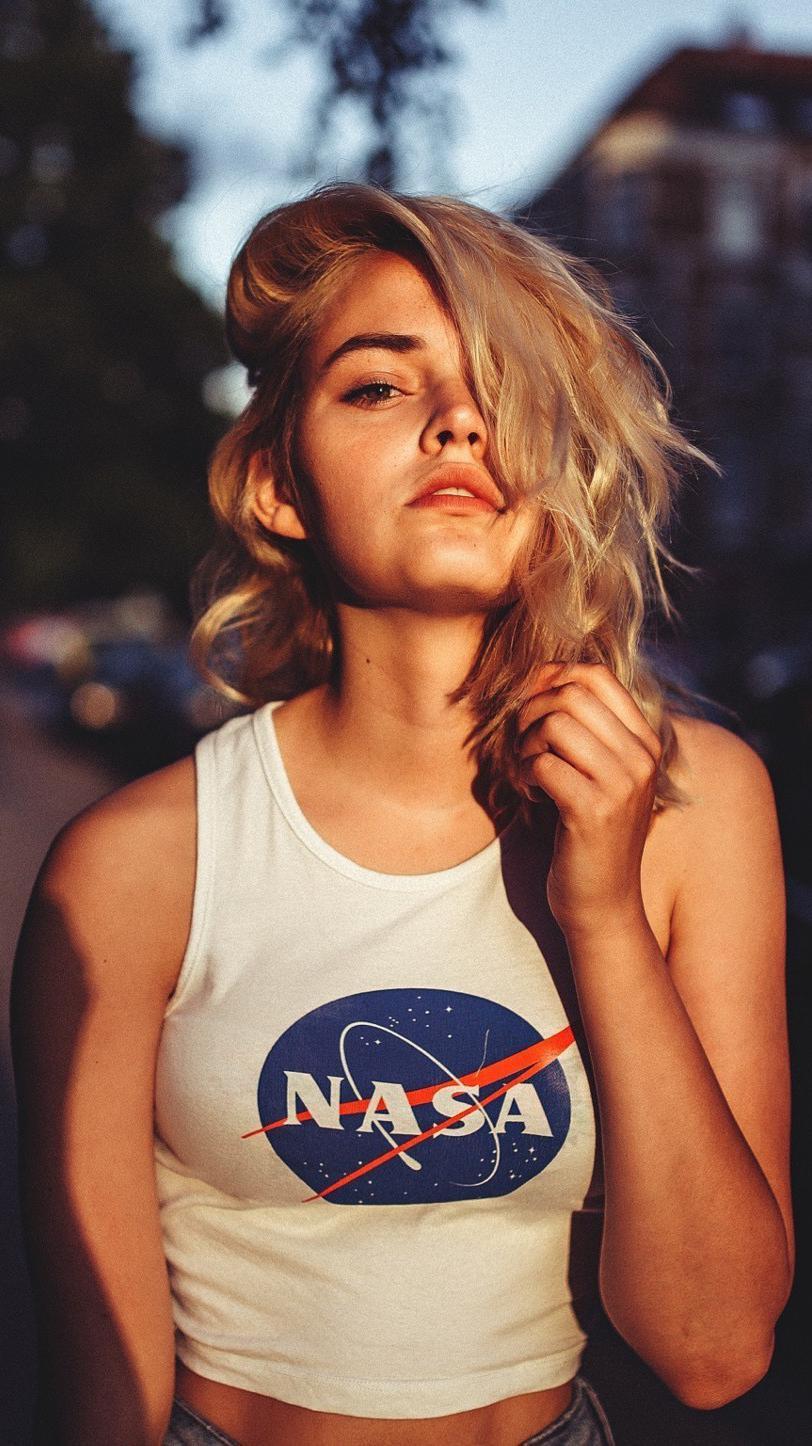 NASA Girl iPhone Wallpaper