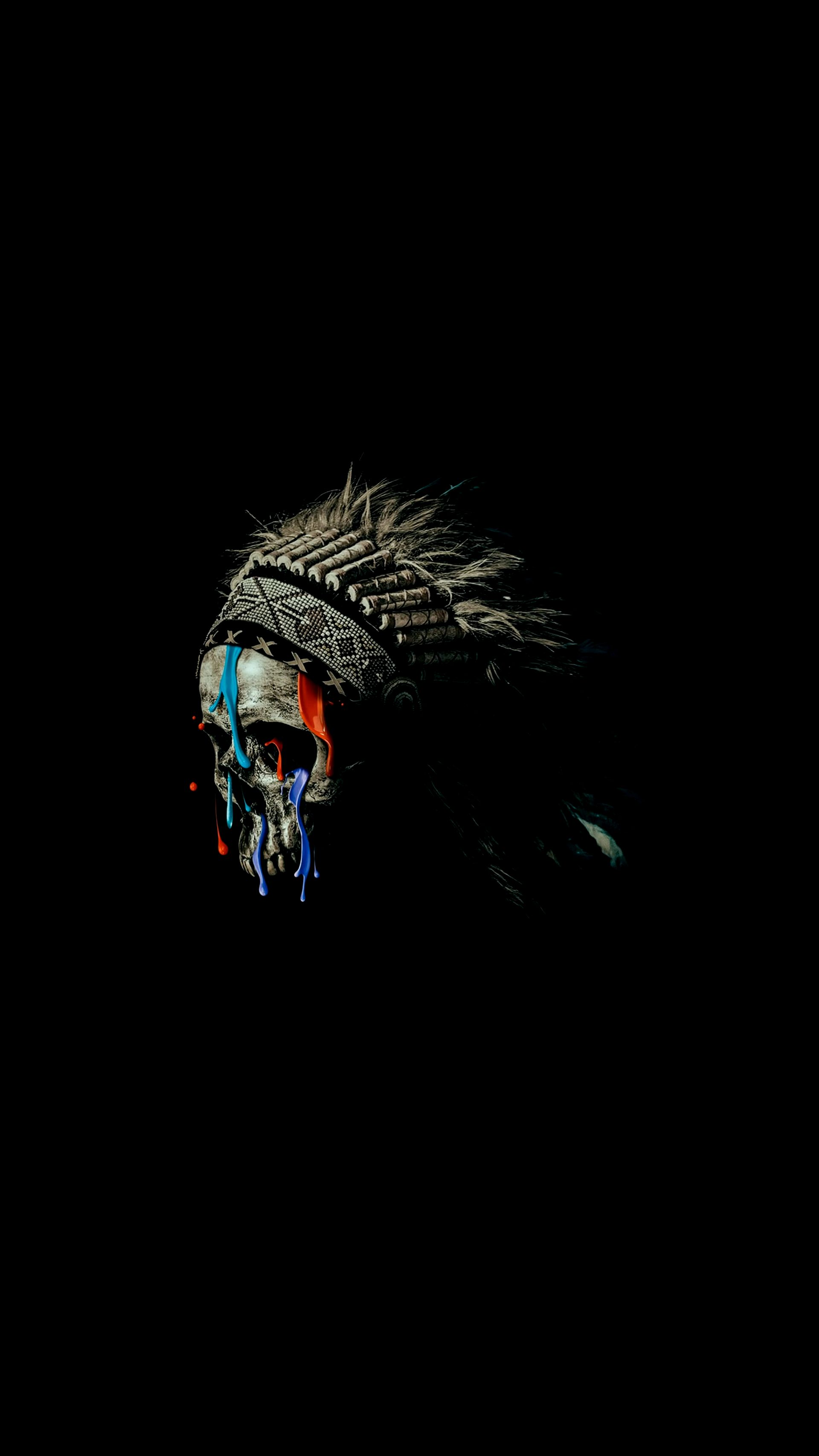 Native American Skull iPhone Wallpaper
