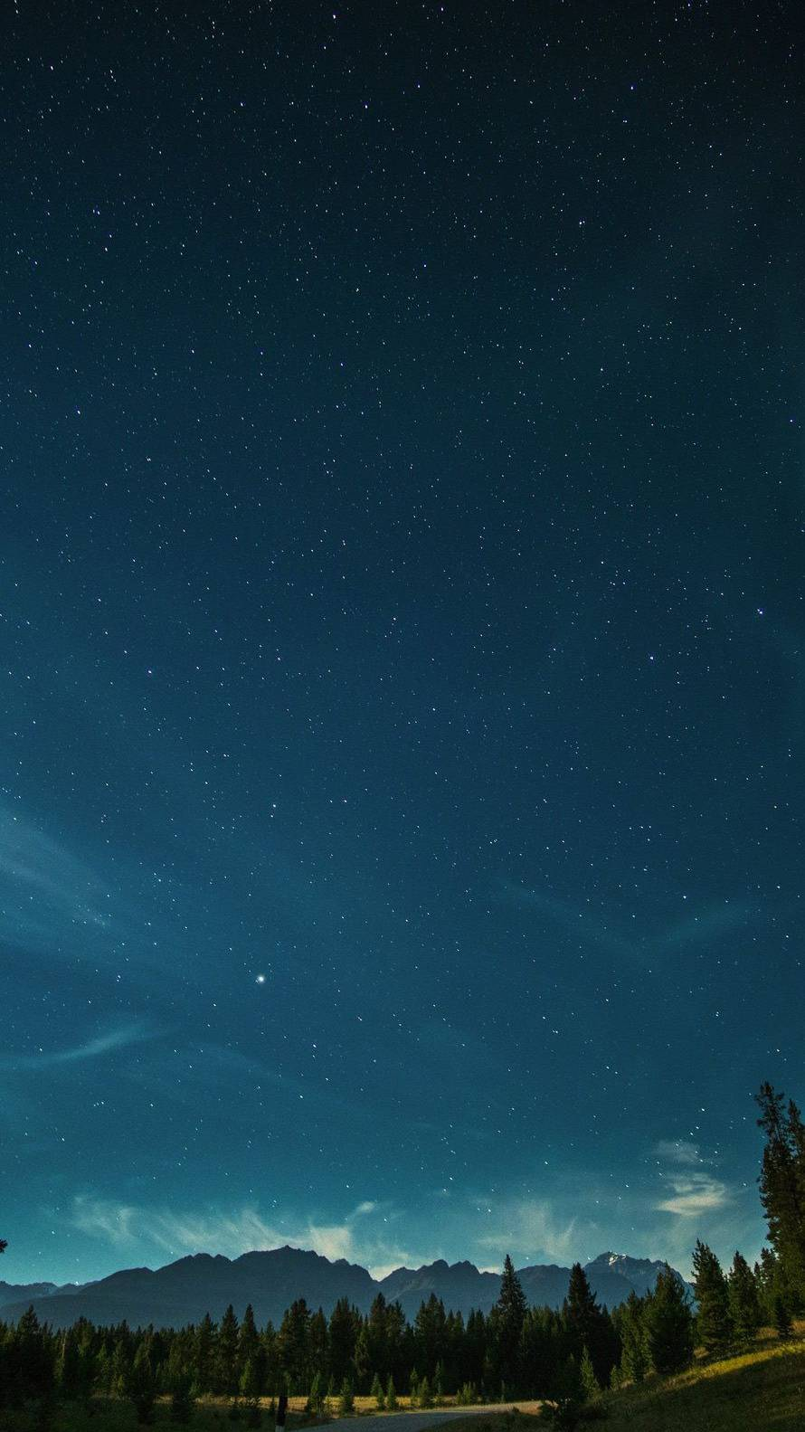 Nature Sky View Stars iPhone Wallpaper