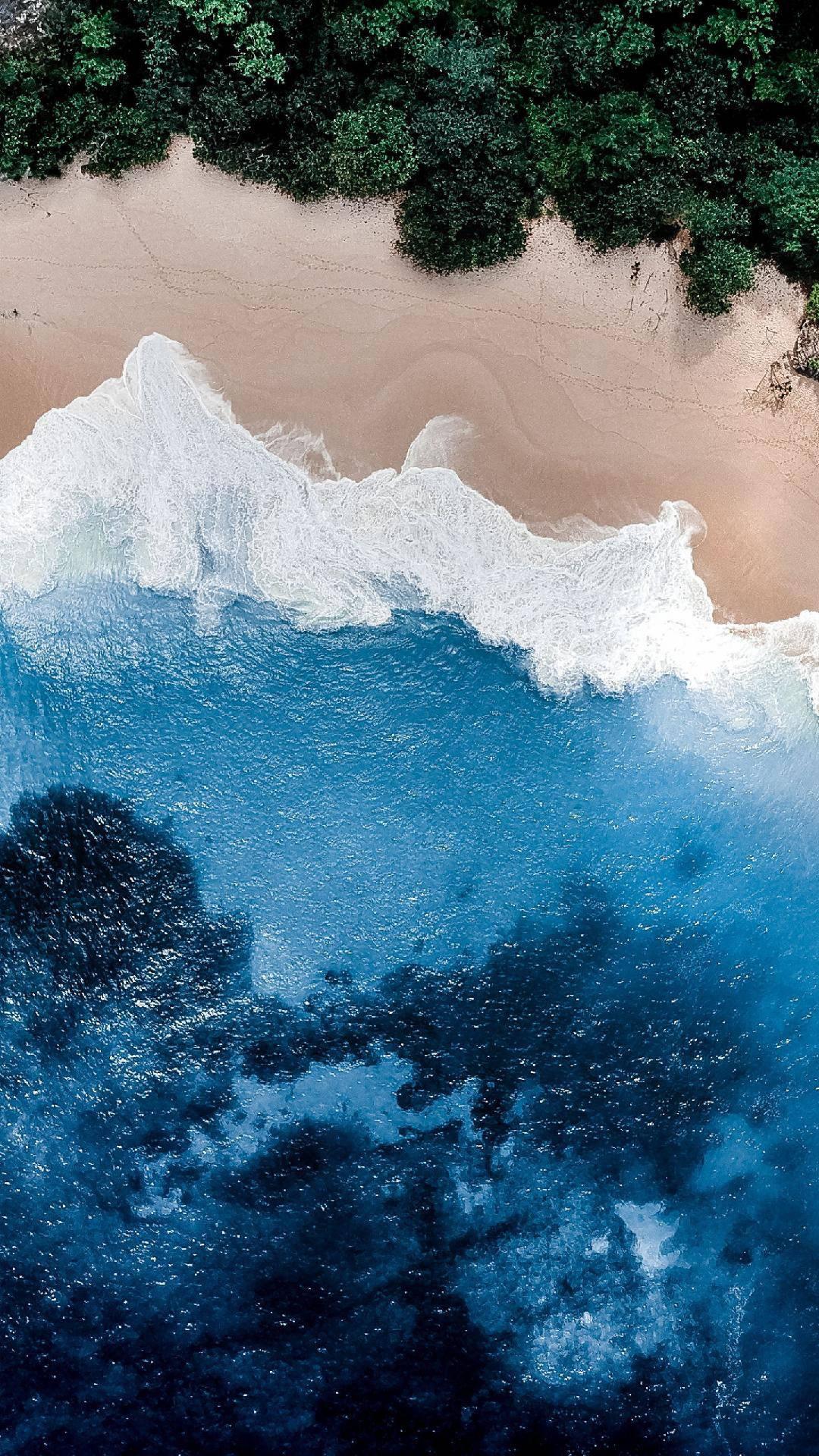 Ocean Beach Sky View iPhone Wallpaper