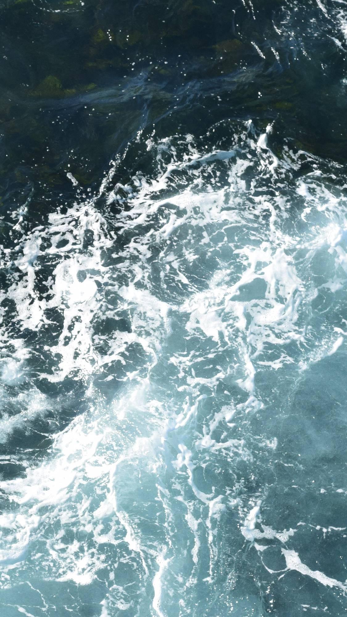 Ocean Water Dark iPhone Wallpaper