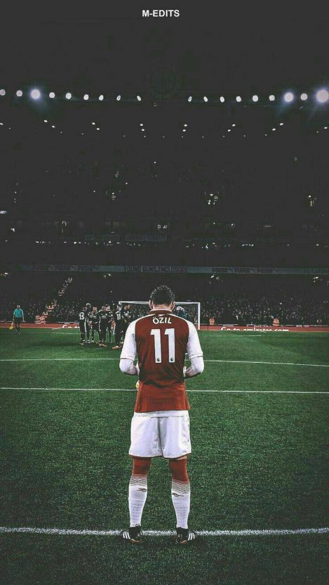 Ozil Football Player iPhone Wallpaper
