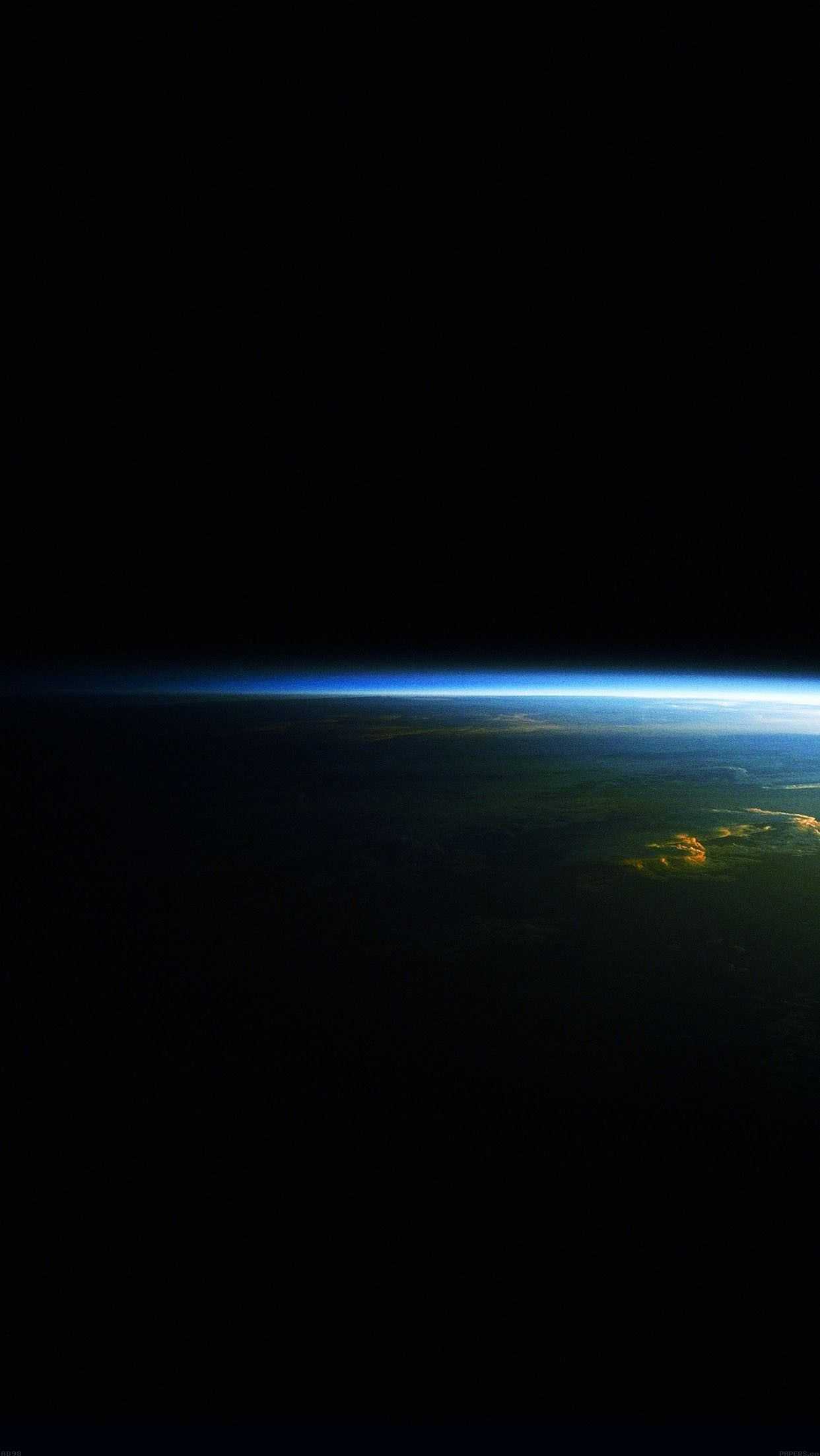 Planet Earth Space View Sunrise iPhone Wallpaper