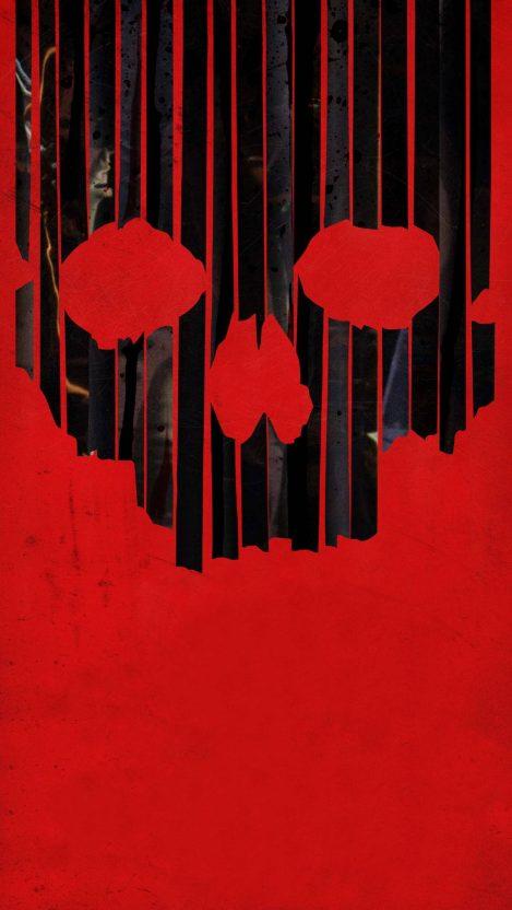 Skull of Halloween iPhone Wallpaper