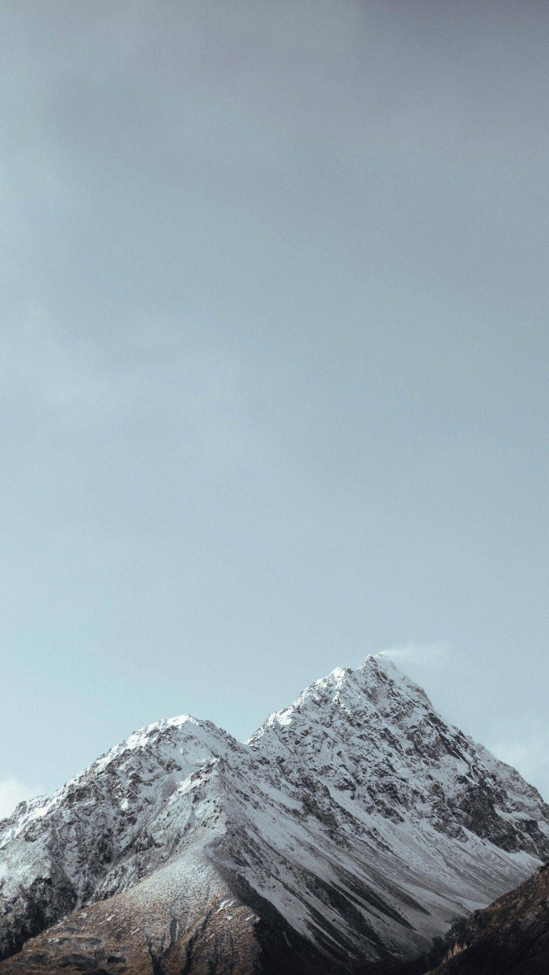 Snow Mountains Winter Nature iPhone Wallpaper