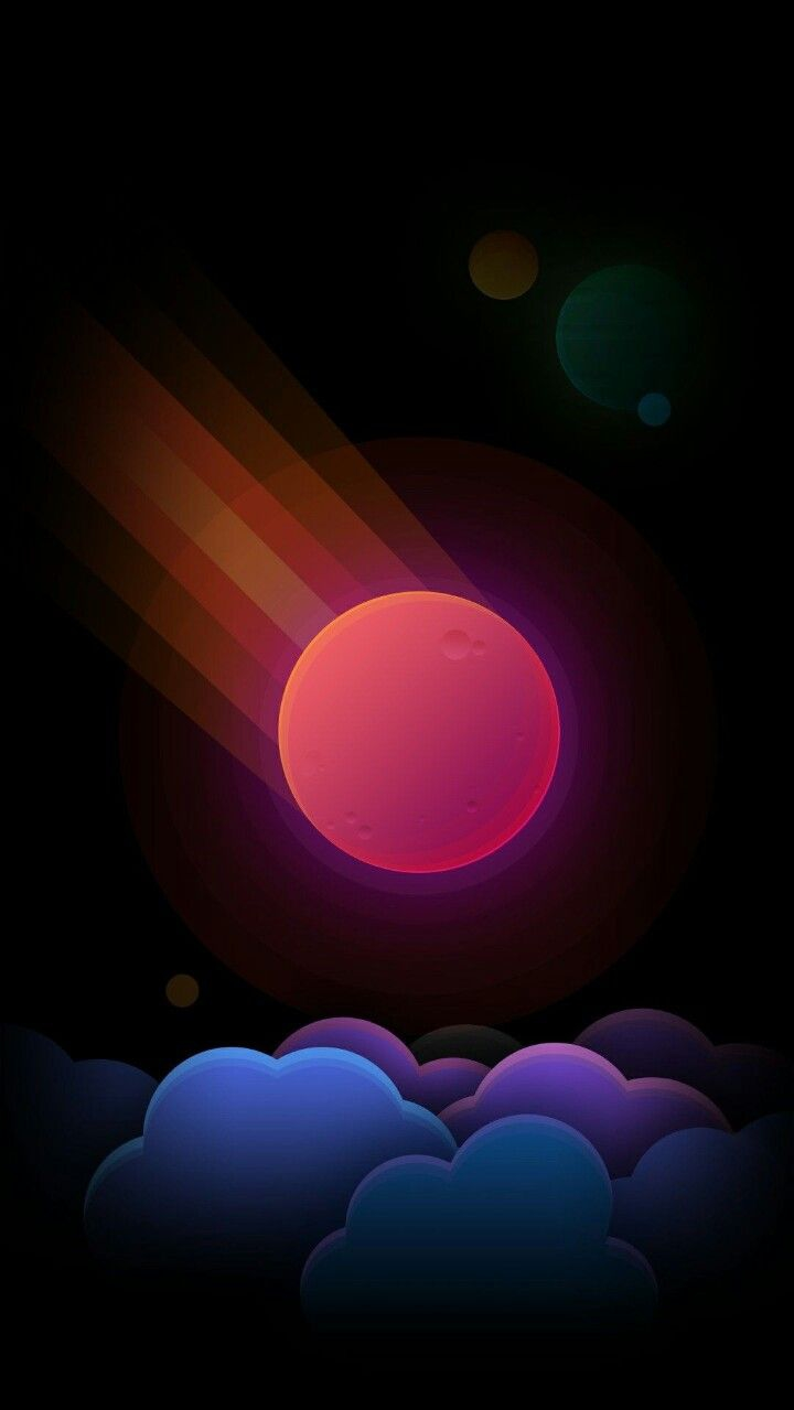 Space Meteoroid iPhone Wallpaper