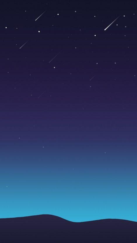 Stars Minimal Sky Night iPhone Wallpaper