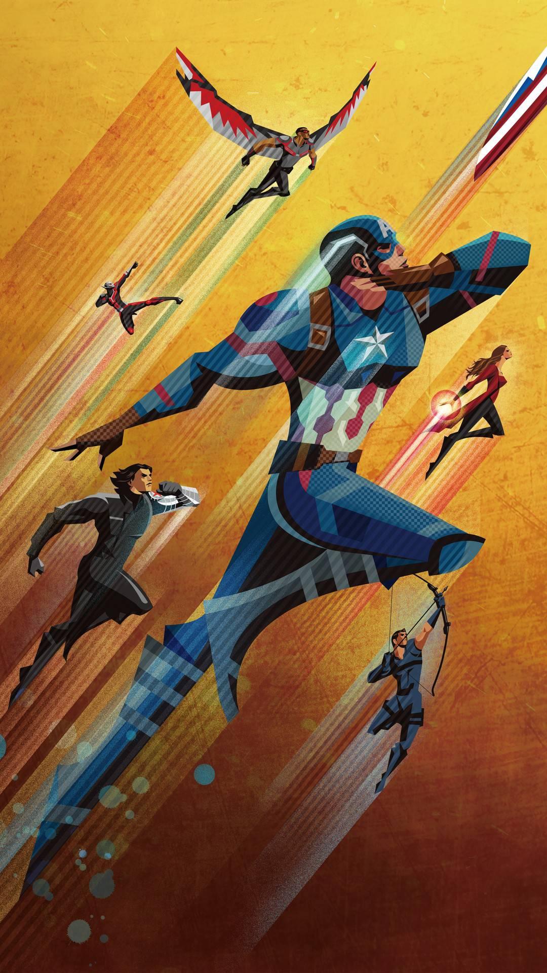 Team captain america iPhone Wallpaper