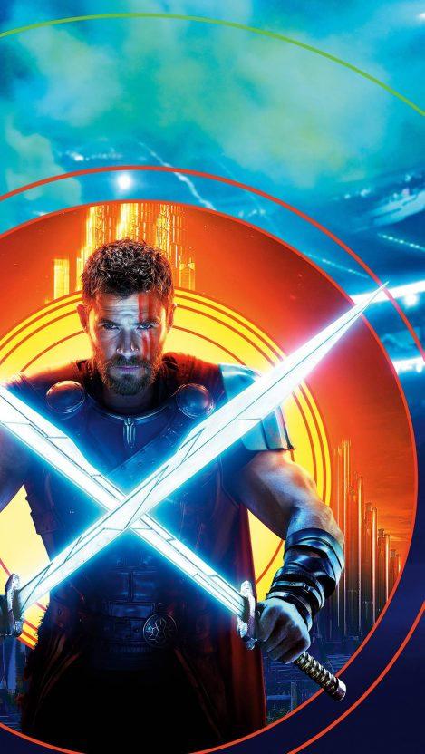 Thor Ragnarok Chris Hemsworth iPhone Wallpaper