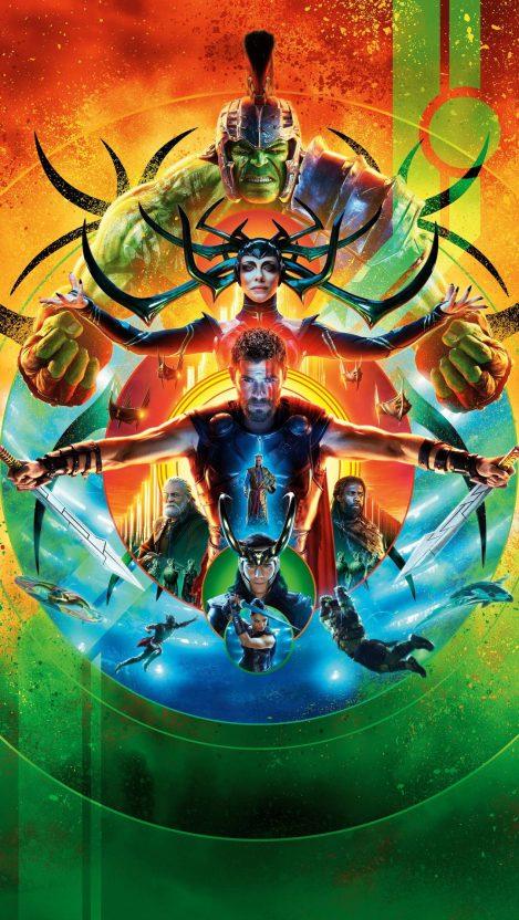 Thor Ragnarok Poster iPhone Wallpaper